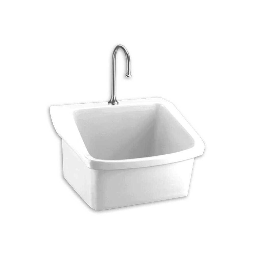 956 00 9047093 020 American Standard Surgeon S Scrub Sink Wht White Wall Mount Laundry