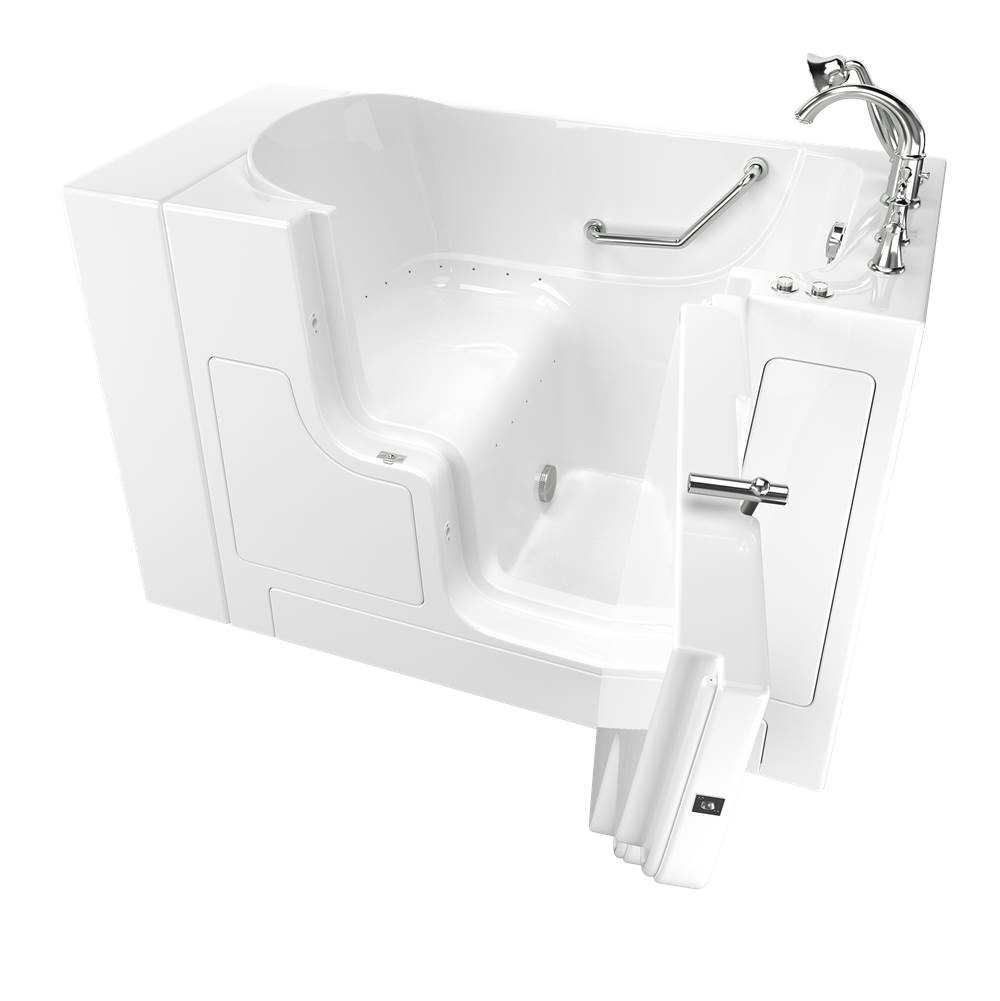 American Standard Gelcoat Premium Series 30 in. x 52 in. Outward Opening Door Walk-In Bathtub with Air Spa system in White