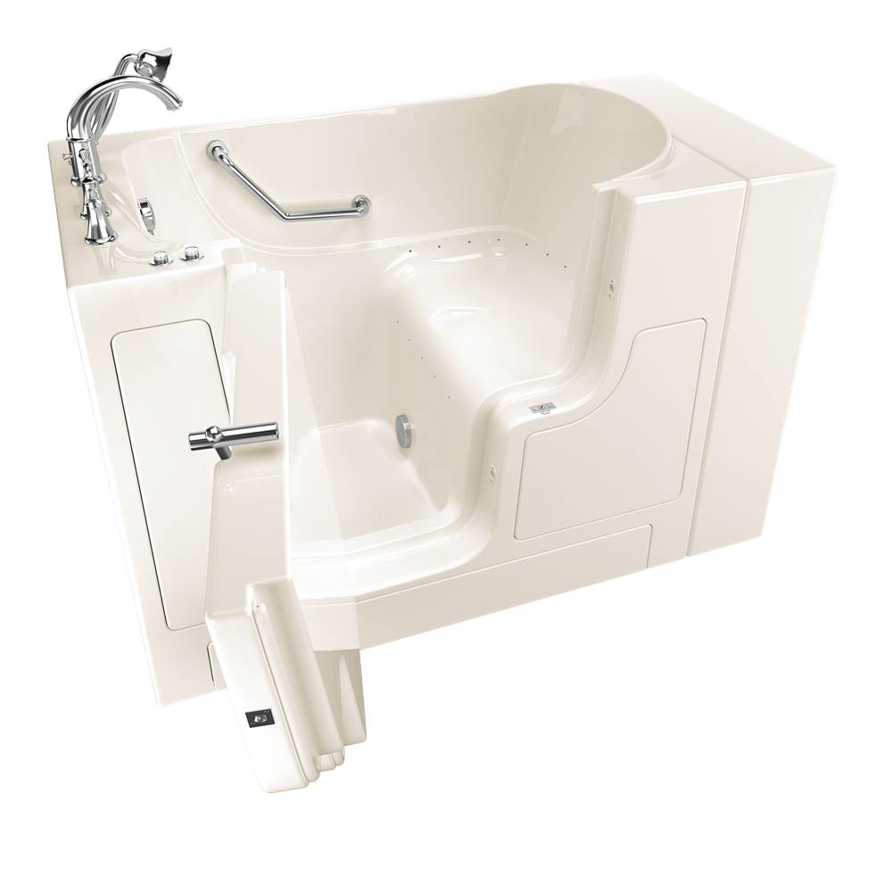 American Standard Gelcoat Premium Series 30 in. x 52 in. Outward Opening Door Walk-In Bathtub with Air Spa system in Biscuit
