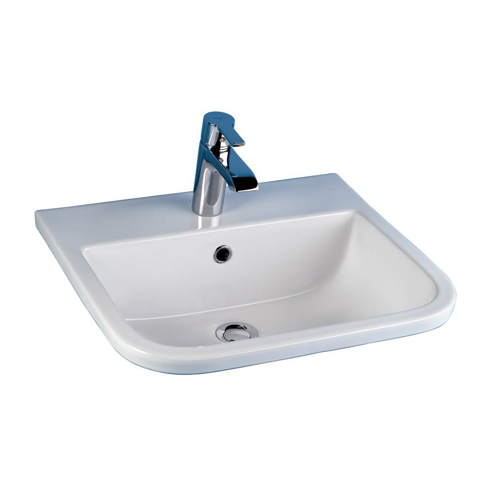Barclay Series 600 20'' Drop-In Basin 1 Hole, White