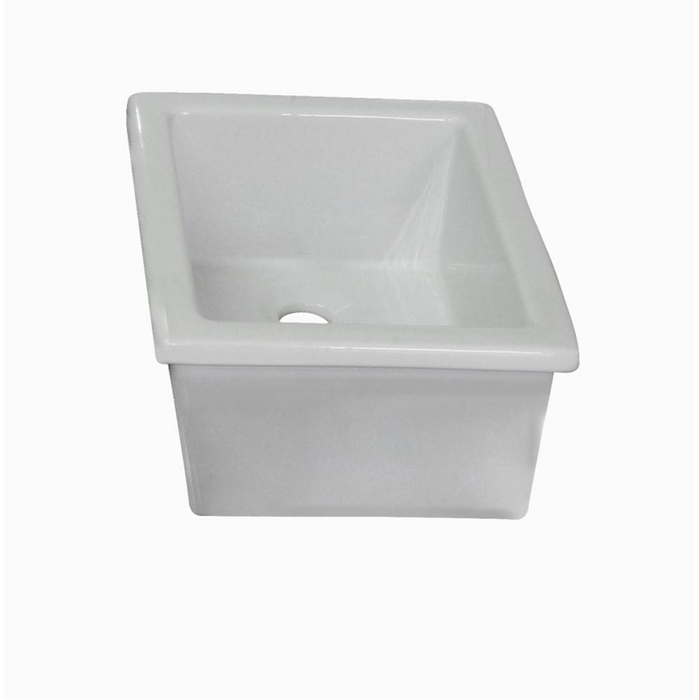 Barclay Utility Sink, 14 1/8'' x 11'', Fire Clay, White