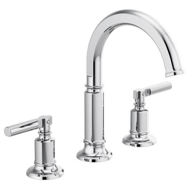 Brizo Invari: Widespread Lavatory Faucet With Arc Spout - Less Handles