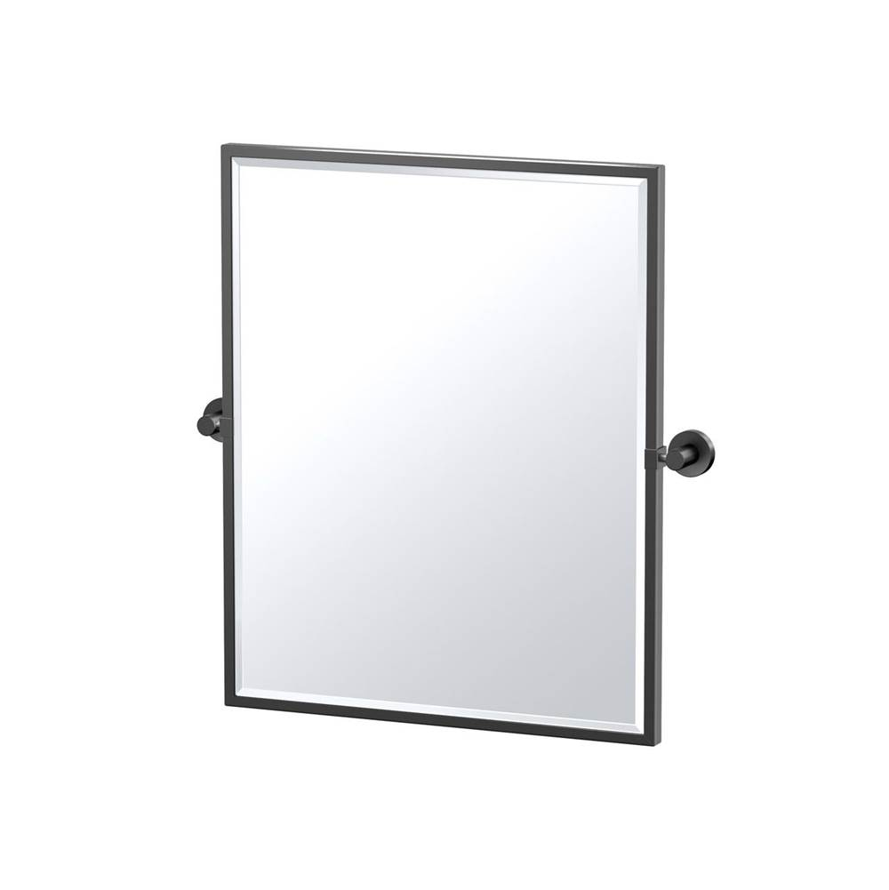 Gatco Glam 25'' H Framed Rectangle Mirror, Matte Black
