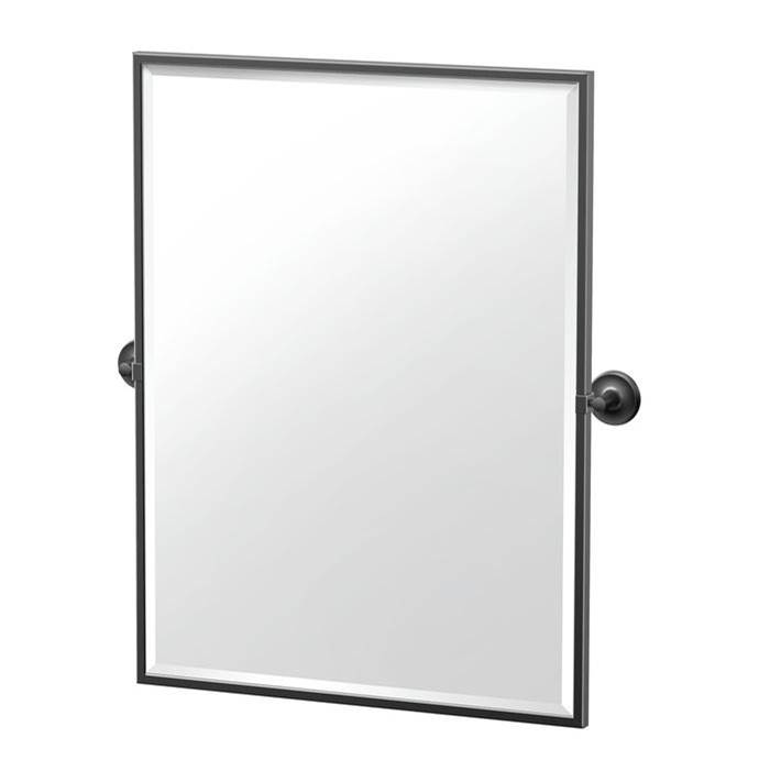 Gatco Designer II 32.5'' H Framed Rectangle Mirror, Matte Black