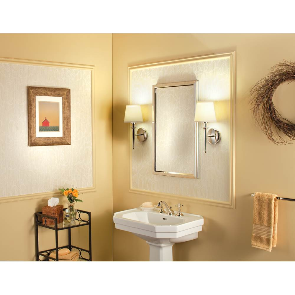 GlassCrafters Trinity 24'' x 30'' Decorative Framed Mirror in Brushed Bronze