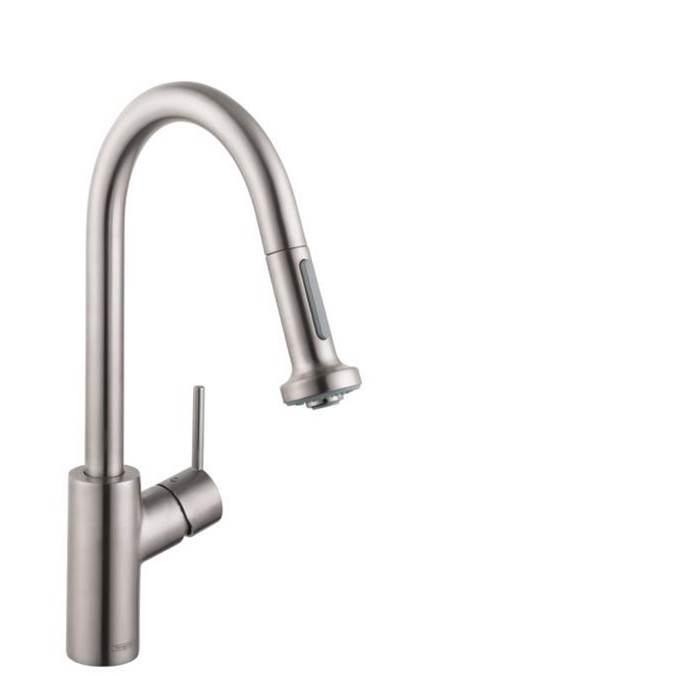 Hansgrohe Talis S² Higharc Kitchen Faucet, 2-Spray Pull-Down, 1.75 Gpm In Steel Optic