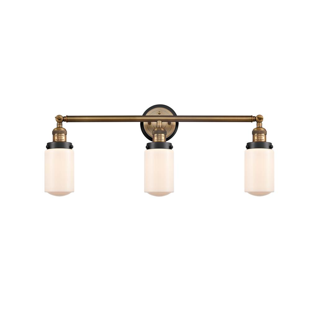 Innovations Dover 3 Light Mixed Metals Bath Vanity Light Mixed Metals part of the Franklin Restoration Collection