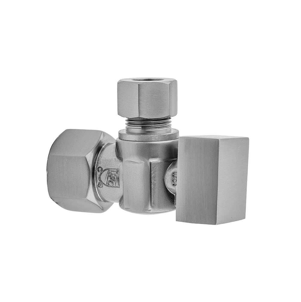 Jaclo Quarter Turn Angle Pattern 1/2'' IPS x 1/2'' O.D. Supply Valve with Square Handle