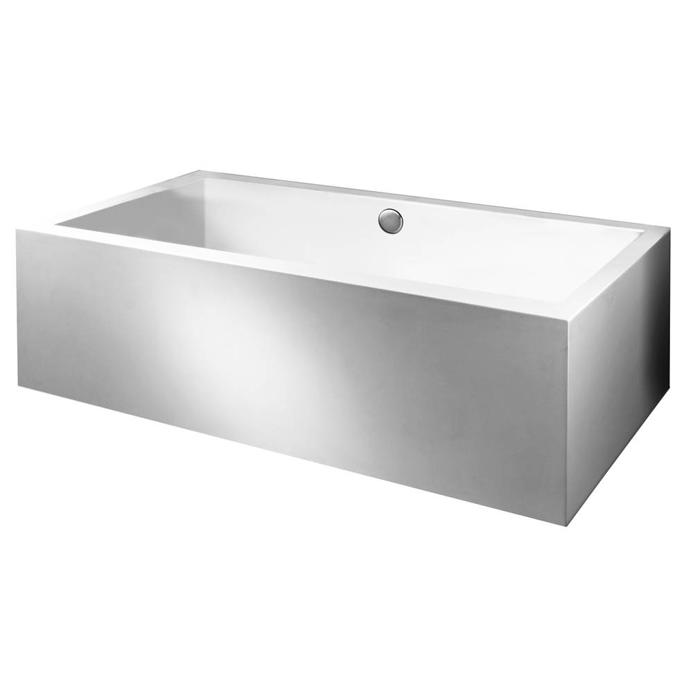 MTI Baths 72X42 SCULPTED 2 SIDES WHITE AIR ELITE BATH Andrea 104A