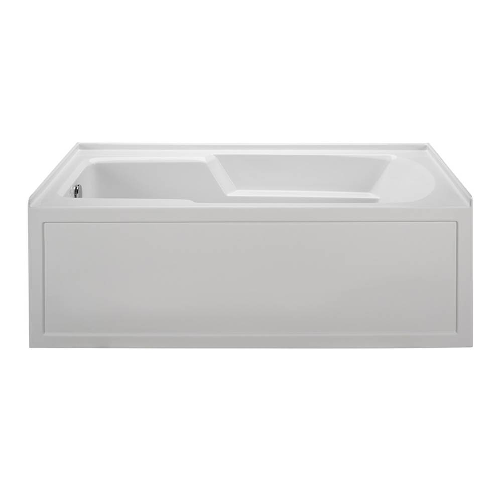 MTI Baths 60X30 BISCUIT RIGHT HAND DRAIN INTEGRAL SKIRTED AIR BATH W/ INTEGRAL TILE FLANGE-BAS