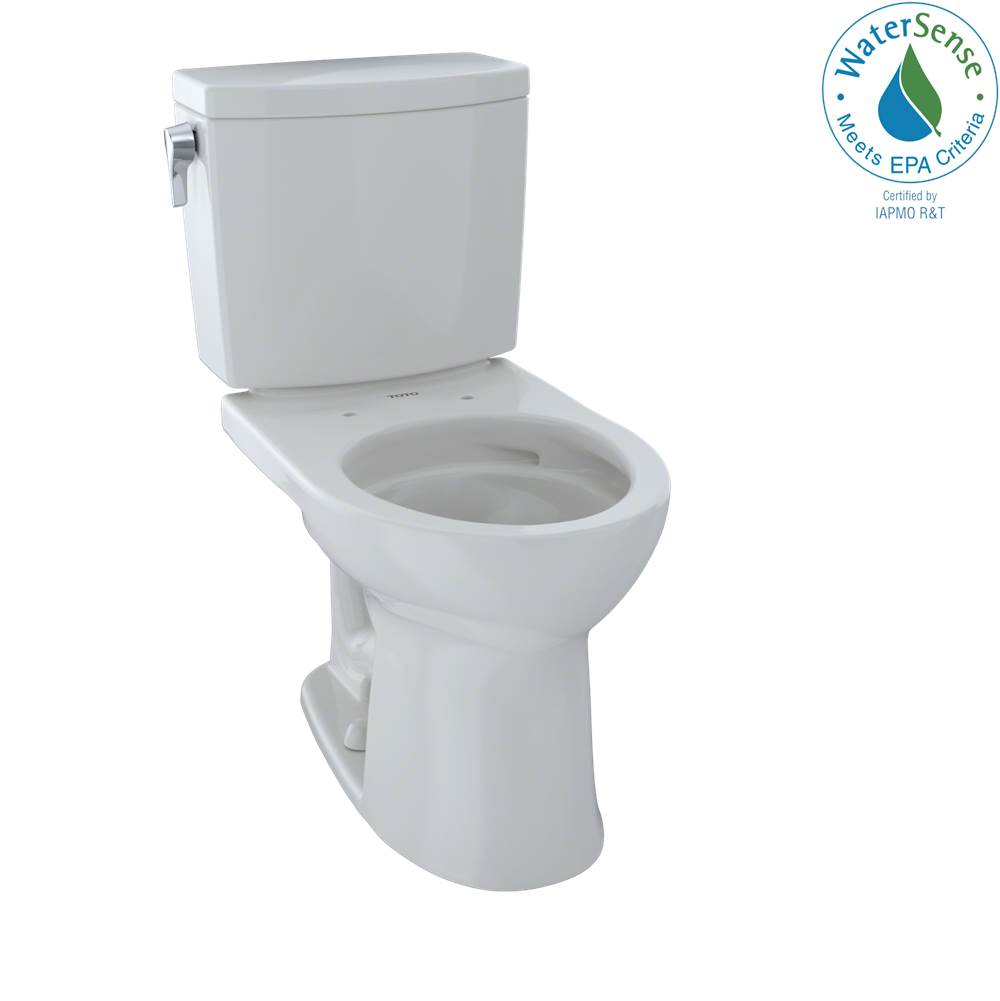 Toto Drake® II 1G® Two-Piece Round 1.0 GPF Universal Height Toilet with CEFIONTECT, Colonial White