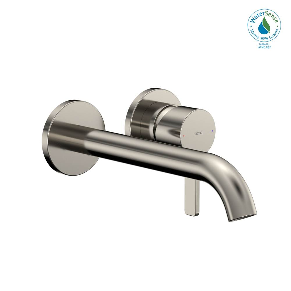 Toto GF 1.2 GPM Wall-Mount Single-Handle Long Bathroom Faucet with COMFORT GLIDE Technology, Polished Nickel
