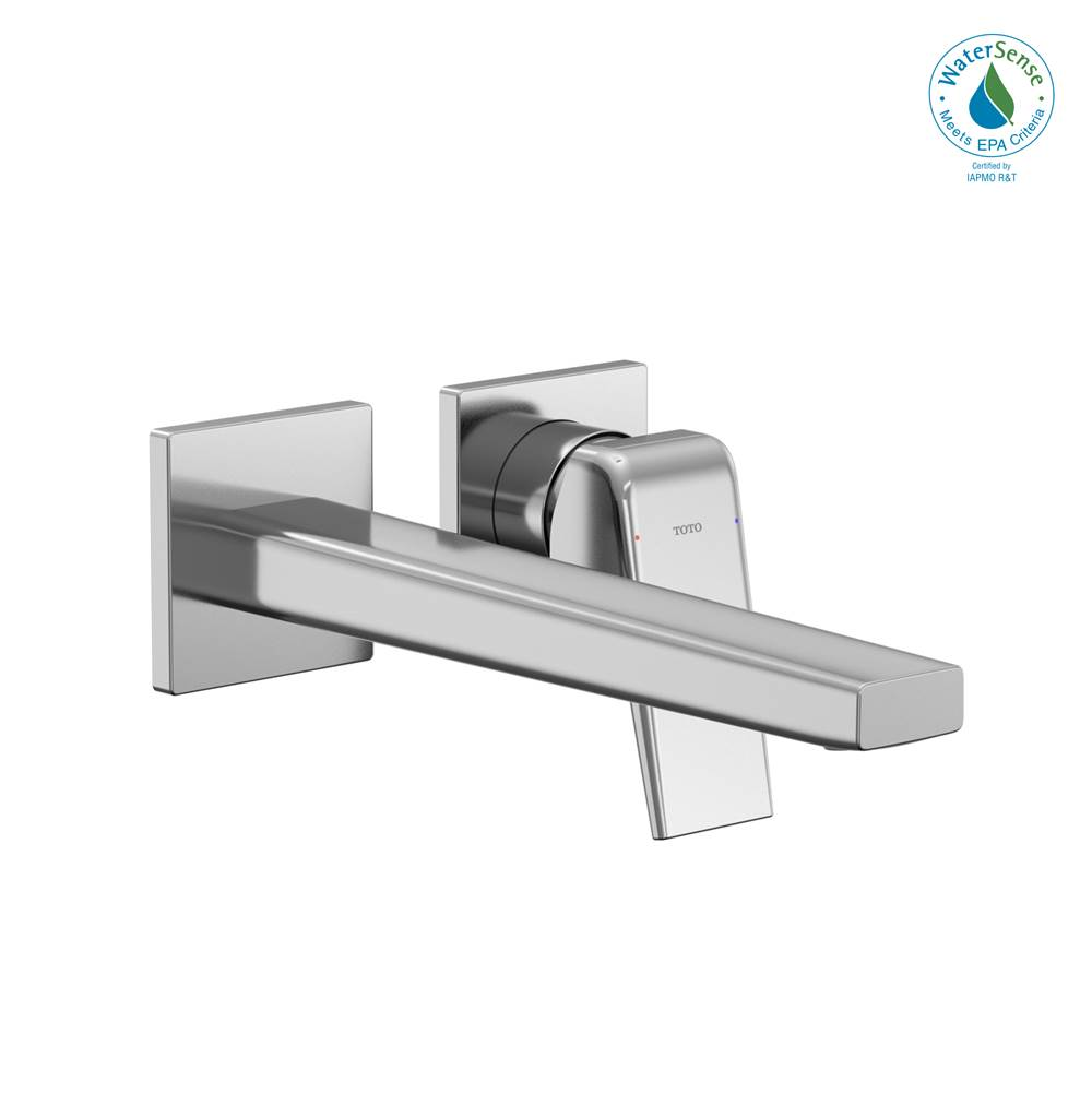 Toto GB 1.2 GPM Wall-Mount Single-Handle Long Bathroom Faucet with COMFORT GLIDE Technology, Polished Chrome